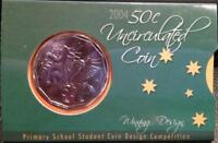 2004 50 CENT **PRIMARY SCHOOL STUDENT DESIGN** UNCIRCULATED COIN.