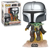Funko POP Star Wars The Mandalorian Flying with The Child Baby Yoda Vinyl Figure