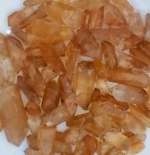 Gemstone Farmer: 1/2 Lb Raw Tangerine Quartz Rough Crystal Points + Free Cab
