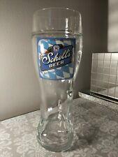 August Schells Beer Oktoberfest 1 Liter Boot Beer Mug NEW Glass - New Ulm, MN