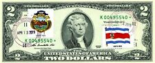 $2 DOLLARS 2009 STAR FLAG & COATS OF ARMS COSTA RICA LUCKY MONEY VALUE $500