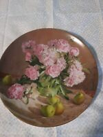 """Vintage """"Flowers of Your Garden"""" Peonies 4th Plate painted by Vieonne Morley"""