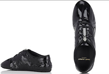 New $695 SAINT LAURENT YSL Verneuil Black Patent Leather Oxford Sneakers 36