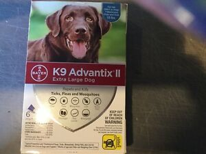 K9 ADVANTIX II FLEA AND TICK CONTROL DOGS OVER 55 LBS- 6 PACK- NEW IN BOX- USA
