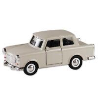 Trabi Trabant Limousine beige,Modellauto DDR Metall 12 cm,NEU !