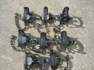 8 VARIOUS COIL SPRING TRAPS SOME MODIFIED, STERLING, VICTOR, MONTGOMERY & DUKE