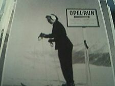 b/w photograph 3x5 inches opel run winter skier lady prepares