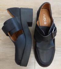 RUBI black BUCKLE comfort SHOE 9 chunky heel NEW uni BUY 3+ ITEMS = FREE POST