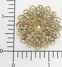 24623         2 Pc Brass Oxidized Round Pleated Filigree Jewelry Finding