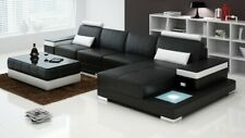 Couch Ecksofa Möbel Leder Wohnlandschaft Garnitur Design Modern Sofa L-Form Neu