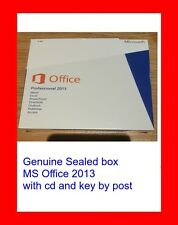 Genuine Sealed box microsoft office Professional 2013 CD key by post