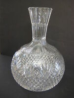 Vintage American Brilliant Cut Crystal Strawberry, Diamond & Fan Carafe
