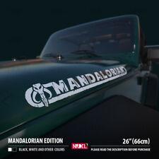 2x MANDALORIAN EDITION DECAL Boba Fett Bantha Skull Logo Car Vinyl Sticker