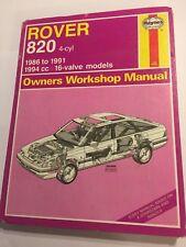 ROVER 820 HAYNES WORKSHOP MANUAL PETROL 2.0L 16V FUEL INJECTION ONLY 1986-1991