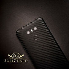SopiGuard Carbon Fiber Vinyl Skin Front + Back for LG G6