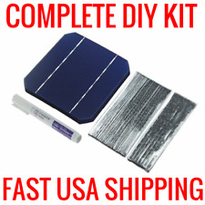 DIY 100W SOLAR PANEL KIT 40 MONOCRYSTALLINE 5X5 CELLS + TABBING WIRE + FLEX PEN