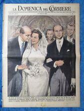 La Domenica del Corriere 13 febbraio 1955 Nozze Maria Pia e Alessandro-L'Aquila