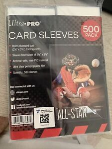 500 Ultra Pro Standard Penny 2.5 x 3.5 Soft Trading Card Sleeves