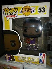 Funko Pop! Basketball Lebron James #53 Lakers Purple Jersey Fanatics Nba