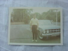 Vintage Car Photo Man w/ 1960 Chevrolet Custom 813