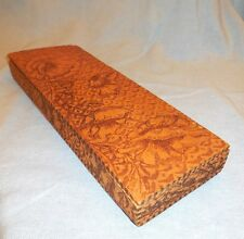 1910 Floral PyroArt Wood Glove Box