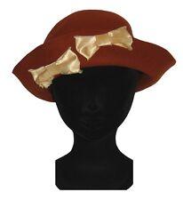 CHAPEAU hiver femme tailles S / M Les 3 CHAPEAUX Made in France feutre rouge hat