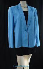 Harve Benard linen blend dress blazer jacket suit coat 1 button Size 16 VTG NEW