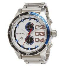 Diesel DZ4313 NewOriginal* DOUBLE DOWN 48 Chronograph Red White Blue*Men's Watch