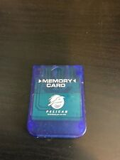 Playstation one 1 Memory Card Pelican Clear Blue PS1 Memory Card Ships Free