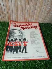 Favourite Marches Vintage Sheet Music Song Book BB Boys Brigade