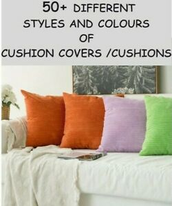 """Large Cushions / Covers  22"""" 24"""" 26""""  Heavy Durable Fabric With Zipper / Filler"""