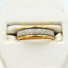 Two-Colour Spinner Ring - 18ct Yellow and White Gold (7205L)