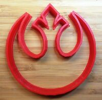 Star Wars Rebel Alliance Cookie Cutters (2Types) Choice of Sizes - 3D Printed