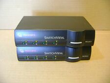 Two Avocent Switchview 4-Port 520-195-005 Kvm Switch Used No Cables or Adapter
