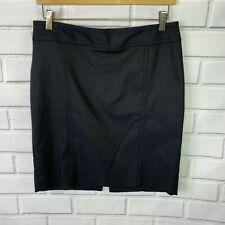 White House Black Market WHBM Women's Black Pencil Skirt Size 4 Career A1