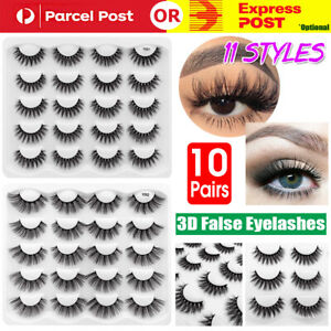 10Pair 11Style 3D Mink Natural Thick False Eyelashes Eye Lashes Makeup Extension