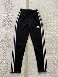 Adidas Clima Cool Youth Track Pants Size YXL 3-Striped Elastic Waist Pull-On