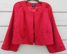 International Concepts Inc Scarlet Red Open Front Bolero Cropped Jacket Wms XL