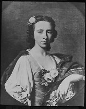 Glass Magic Lantern Slide PORTRAIT OF FLORA MACDONALD C1890 DRAWING