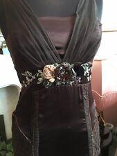 Karen Millen Silk & Diamanté Embellished Dress