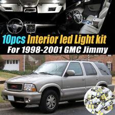 10Pc Car Interior LED Super White Light Bulb Kit for 1998-2001 GMC Jimmy