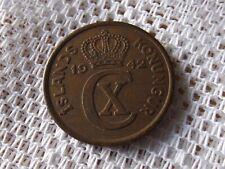 1942 ICELAND 5 AURAR * EARLY COIN *