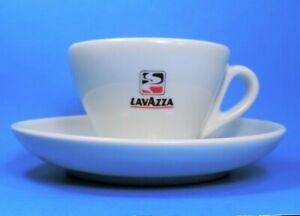 pair LAVAZZA vintage LG ESPRESSO CUPS & SAUCERS (MINT)