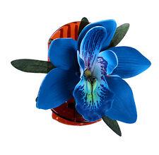 TIKI Flower ORCHIDEEN Blüten Haarspange Rockabilly - Türkis