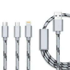 0.3M 3 in 1 Lightning Micro USB Type-C Data Cable for iPhone Samsung Phones