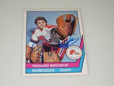 RICHARD BRODEUR AUTOGRAPHED 1977-1978 OPC O-PEE-CHEE WHA CARD