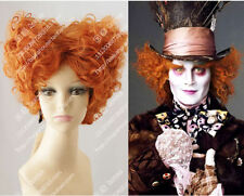 cosplay wig Mad Hatter Tarrant Hightopp Orange short curly hair Christmas party