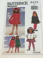Butterick Sewing Pattern 6373 Toddler Girls Dress Top Leggings Outfit Easy Uncut