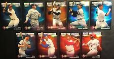 2012 Topps Prime 9 Home Run Legends Complete 9 Card Refractor Set Mantle, Ruth