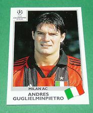N°300 GUGLIELMINPIETRO MILAN ITALIA PANINI FOOTBALL CHAMPIONS LEAGUE 1999-2000